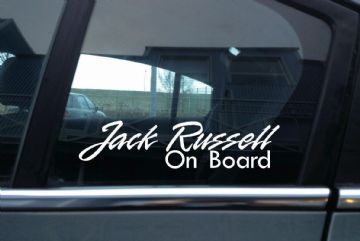 2x Jack Russell On Board dog in car fancy warning STICKERS | Aufkleber | Pegatina | autocollant
